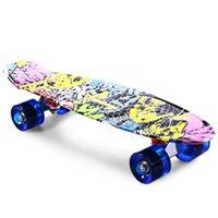 Wholesale Cl impression Graffiti Style Complete Skateboard polegada Dragon planche à roulettes Retro Cruiser Longboard Retro Skate longue plan