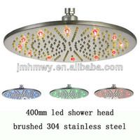 Wholesale fashion stainless steel rainbow rainfall waterfall heated shower head