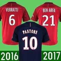 Wholesale 2016 maillot psg de foot soccer shirt matuidi Ben Arfa Pastore camisetas de futbol