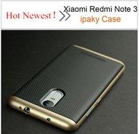 Caja de la nota 3 de Xiaomi Redmi Caja trasera original de la caja del silicón del marco del iPaky PC + TPU w del 100% para el envío libre de la nota 3 de Xiaomi Redmi