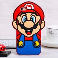 al por mayor alcatel one touch phone case-Para Alcatel One Touch Pop C7 OT 7041D 7041 7041X Caso de dibujos animados Marios Super Marios caso cubierta de silicona caso de teléfono