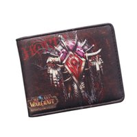 Wholesale Bifold Men Hot Movies Wallets WOW Alliance Horde Flag Purse Leather Slim Short Wallet ID Card Holder Cool Game Wallet For Men