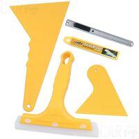 Wholesale Car film scraper set film tools cow muscle scraper solar film carbon fiber blades multifunctional