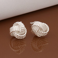 Wholesale 10Pairs Lot Sterling Silver Plated Fashion Stud Earrings Jewelry For Gifts E013