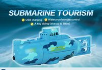 Wholesale Submarine Tourism with USB charging waterproof remote control dive to cm