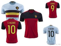 Wholesale DHL EMS Belgium Home red jersey Soccer Team National LUKAKU HAZARD VERMAELEN BRUYNE Football jersey shirt