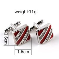 Wholesale Popular French fashion diamond Cufflinks oil Cufflinks and men s and women s fashion shirt sleeve French Nail