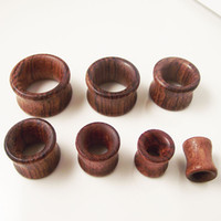 Wholesale 70 Piece Hollow Wood Ear Tunnel Flesh Plug Expander Stretcher Gauge Body Jewelry