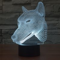 best night lights - Wolf Novelty D Optical Illusion LED Table Lamp Lighting With Touch Control desk lamp night light best gift