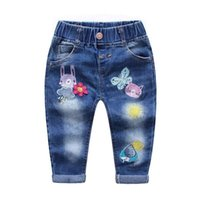 Wholesale 2016 kids clothing kids clothes Autumn with new girls put small children don t need son cloth washed denim trousers