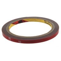 al por mayor acrylic tape-1pcs de alta resistencia coche del carro de la etiqueta engomada de espuma acrílica doble echó a un lado del vehículo adhesivo 3M Red de 6 mm de cinta ancha de US $ 10 hay seguimiento