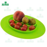 Wholesale FDA and LFGB approved food grade silicone creative integrated interesting dinner plate silicone dishes for infants F023
