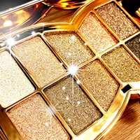natural diamond - 10 Colors Diamond Eyeshadow Eye Shadow Palette Makeup Cosmetic Brush Set Tools Eye Shadow Glitter Beauty tools