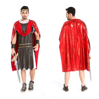 ancient greek clothes - Sparta roman warrior clothing ancient gladiators warrior halloween costume for adults Greek mythology warrior cosplay