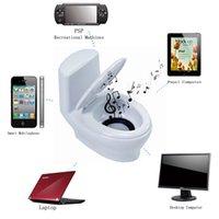 Wholesale Innovative WC design Portable Mini speaker Toilet Speaker stinkpot night stool speaker