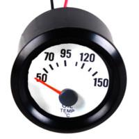 Wholesale Black Shell White Dial quot mm Car Oil Temp Temperature Celsius Gauge Meter M11531 oil marker