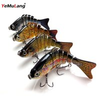 Wholesale 10CM DEye High Simulation Artificial Segments Hard Fishing Lure Baits For Fishing Tackle Accessories BB505
