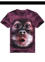 animal planet t shirts - Animal series D dimensional personality T shirt rise of the planet of the apes rock hand tie dye man s fashion clothes