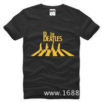 abbey road shirt - WISHCART The Beatles Abbey Road Metal Rock Mens Men T Shirt Tshirt Fashion Short Sleeve O Neck Cotton T shirt Tee Camisetas Hombre