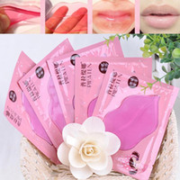 age crystal - 5pcs Lip Plumper Crystal Collagen Lip Mask Pads Moisture Essence Anti Ageing Wrinkle Patch Pad Gel Full Lips Lip Enhancer