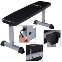 abdominal crunches - Sit Up Bench Flat Crunch Board AB Abdominal Fitness Weight Exercise New