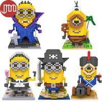 Wholesale New Minions Blocks Toys Cosplay Characters Models Building Collection Kids Toy Gifts Styles
