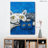 animal fat oil - New Arrival High Quality Modern Abstract Fat Cat Oil Painting Artist Hand painted Funny Animal Fat Cat Oil Painting Decoration