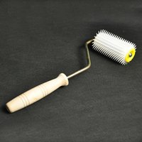 Wholesale Plastic Honey Punch Roller Uncapping Roller beekeeping tools propolis collector plastic uncapping roller collector beekeeping wood