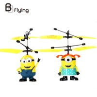 Wholesale 1 PC Fly Minion Toy RC Helicopter Radio Sensor Remote Control Mini RC Helicopter Gifts Male Or Female Sent In Random