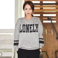 Wholesale Women Sweater Korean Version Of The New Autumn And Winter Cotton Pullover General Set Of Round Neck Loose Letters Printed