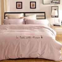 Wholesale VS Secret Pink Bedding Set Love Design Cotton Duvet Cover Bed Sheet Pillowcase Comforter Victoria Queen King Size Beddings
