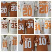 Wholesale Texas Longhorns Vince YOUNG Colt McCoy Connor Williams jerseys Earl Campbell College football sport men shirt