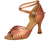 Wholesale Women s Latin Dance Shoes Zapatos De Baile Ballroom Shoes Woman quality Cow suede Salsa zapatos de baile latino ED035
