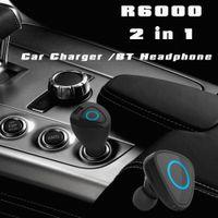 apple bluetooth dock - 2016 new R6000 Mini Stereo Car Bluetooth speakerphone Handsfree bluetooth car kit Headphone with base Charging Dock for all phone