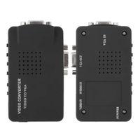 1pcs AV / S-Vidéo vers VGA TV Converter Adapter Monitor Switch Box PC portable Composite professionnel de haute qualité