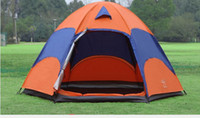 Wholesale 5 Person Outdoor Waterproof Camping Tent Breathable UV Protection Beach Tent With Wind Rope Ground Nail