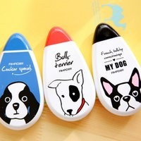 Wholesale Cute little dog like stationery meters large capacity and long durability correction tape tape