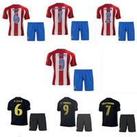 Wholesale 2016 Price Atletico Madrid kit Jersey home and away GRIEZMANN F TORRES Atletico Madrid football shirt soccer jersey