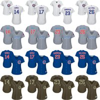 banks world - 2016 World Series Champions patch women Ernie Banks Sandberg MARK GRACE Billy Williams Chicago Cubs Baseball Jersey stitched
