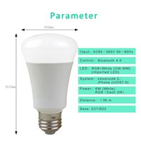 android lampe - LED Bulb lampe W E27 B22 Wireless Bluetooth Speaker RGB Color Smart LED Light Bulb Lamp For IOS Android