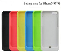 Wholesale 2200 mah Ultra Thin Power Bank Battery Backup Case Charger Cover For iPhone c s