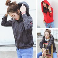 Wholesale 2016 spring and autumn bf HARAJUKU with a hood zipper long sleeve trench design short outerwear outdoor jacket women