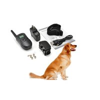 Wholesale Rechargeable Waterproof Dog Pet Products Training Collar Shock Vibrate LCD Remote for Dogs m LV for Dogs Pets