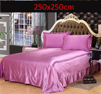 Wholesale Flat Sheet Twin Queen King Size Luxury Brand Satin Imitation Silk sheets Tribute silk Twin Full Queen King size sheet Pillowcase Home Textil
