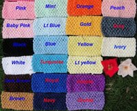 Cheap 20 Color Baby Gir 6inch crochet Tutu Tube Tops Chest Wrap Wide Crochet headbands 2015 new Candy color clothes 15cm X 15cm B001