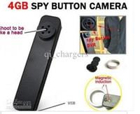 Secrets vidéo Prix-Minuscule espion caché bouton caméra DVR HD 640P AVI Audio Mic 30 FPS secret mini enregistreur vidéo caméscope sans fil 4GB MP-900 2013 Vente chaude
