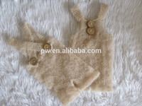 Wholesale Baby Romper Baby Overalls Newborn Photo Props Newborn Photography Props Mohair Pants