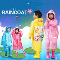 al por mayor niñas de lluvia-El niño de la muchacha de la historieta del nuevo Raincoat 2016 de los niños 50pcs embroma a los estudiantes la ropa de lluvia impermeable de la capa de la lluvia del poncho de la bicicleta para ZA0604 al aire libre
