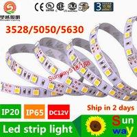 al por mayor roll ribbon-Alta Birght 5M 5050 3528 5630 tiras llevadas caliente de la luz blanca pura Rojo Verde RGB 5M flexibles rollo 300 LED 12V de la cinta al aire libre