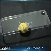 apple borders - Transparent Clear Acrylic Hard Back TPU Soft Border Dustproof Plug Cover For iPhone s Plus